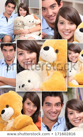 Montage couple jouets fille amour enfant Photo stock © photography33