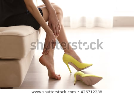Beautiful women legs in color high heels Stock photo © pzaxe