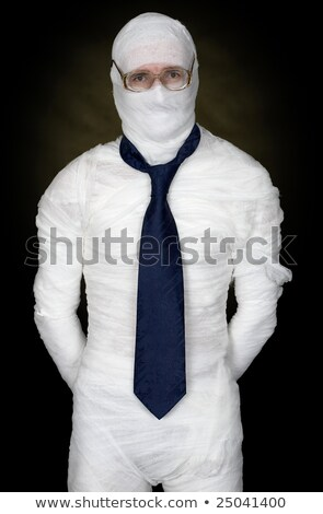 man in bandage with eyeglasses and the cravat stock photo © pzaxe