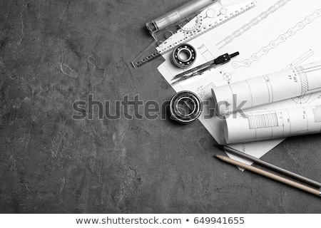 Blueprints and drawing tools Stock photo © broker