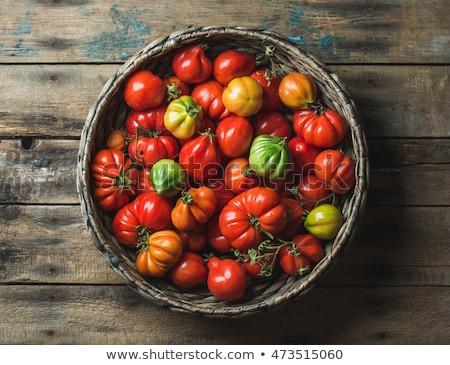 желтый томатный выстрел свежие овощи продовольствие Сток-фото © klsbear