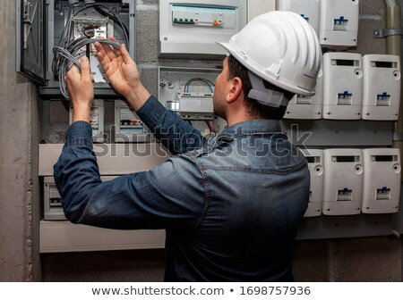 Electrician Checking Voltage stock photo © lisafx