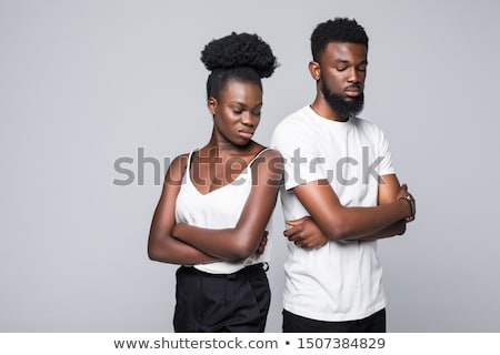 couple · argument · visage · fond · jeunes · fou - photo stock © photography33