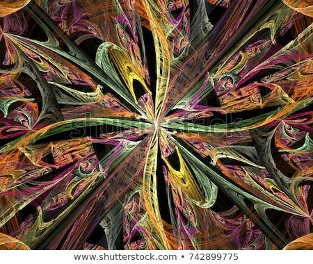 Brilhante colorido caleidoscópio padrão abstrato projeto Foto stock © latent