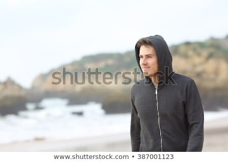 Funny walking teenager boy. Stock photo © Sylverarts