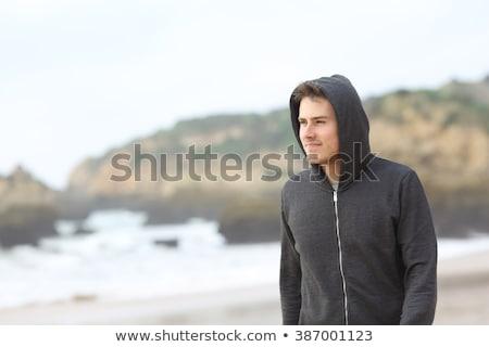 vicces · sétál · tinédzser · fiú · ügyetlen · terv - stock fotó © Sylverarts