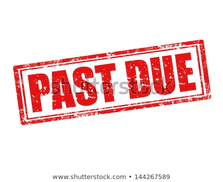 Stock photo: Past due rubber stamp