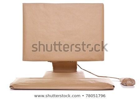 alışveriş · çantası · renkli · kutu · beyaz · dizayn · doğum · günü - stok fotoğraf © sandralise