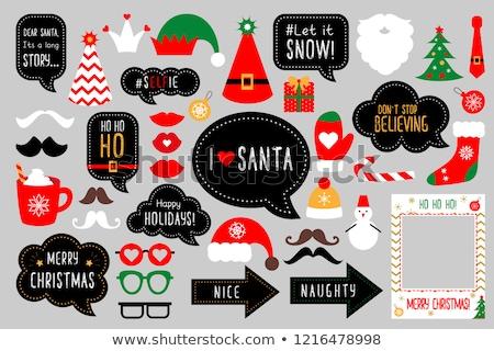 christmas · chłopca · dziewczyna · cute · mały · kostiumy - zdjęcia stock © urchenkojulia