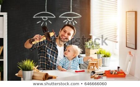 Crianças brincando artesão ferramentas construção diversão industrial Foto stock © photography33