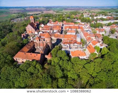 aerial view of reszel old town   poland stock photo © tomasz_parys