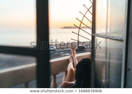 girl in doorway stock photo © carlodapino