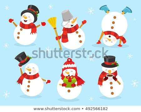 Noel · konuşma · balonu · ayarlamak · beyaz · eğim - stok fotoğraf © adamson