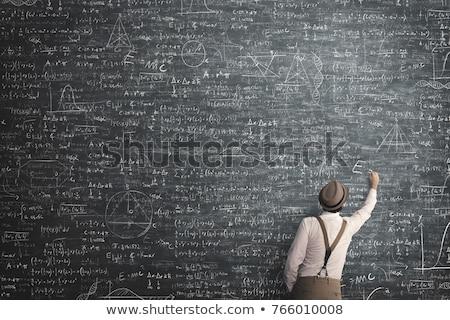 Man with chalkboard Stock photo © stevanovicigor