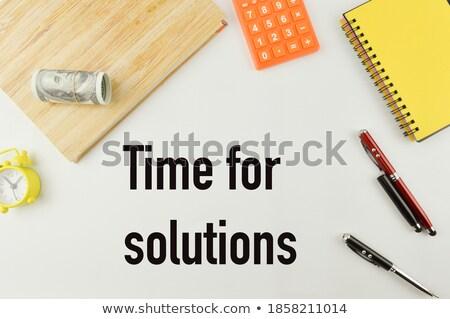 soluzione · scambio · idee · gruppo · pezzi - foto d'archivio © pterwort