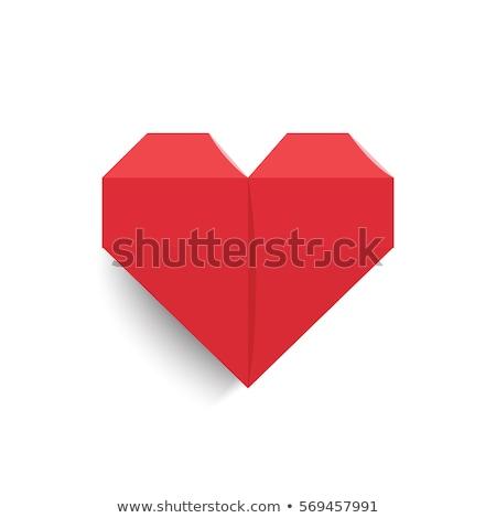Szív origami illusztráció Valentin nap akta esküvő Stock fotó © Luppload