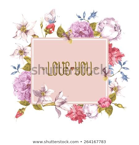 wildflowers greetings card Stock photo © marimorena