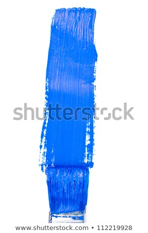 Blue vertical line of painting against a white background Stock photo © wavebreak_media