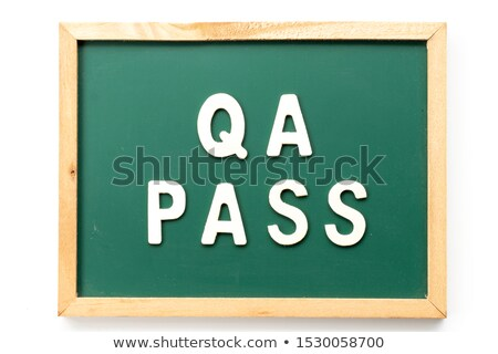qa   questions and answers on blackboard banner stock photo © marinini
