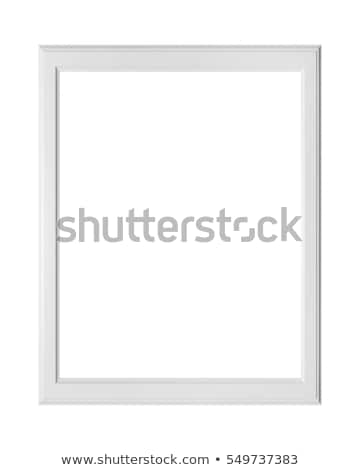 Damaged White Picture Frame with Clipping Path Stock photo © winterling