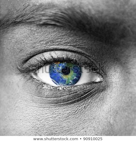 Menselijke oog aarde planeet wereld visie Stockfoto © Lightsource
