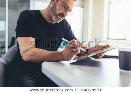 tablet with stylus Stock photo © kyolshin