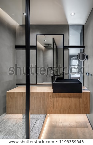 Küçük banyo modern iç mozaik fayans Stok fotoğraf © eh-point