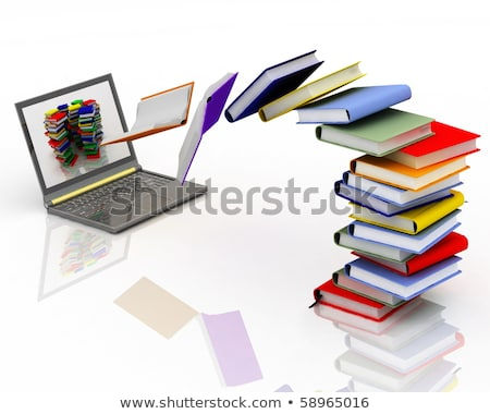 books fly into your laptop	 Stock photo © 4designersart