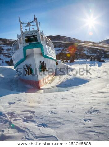 ice ship on winter baical stock photo © zastavkin