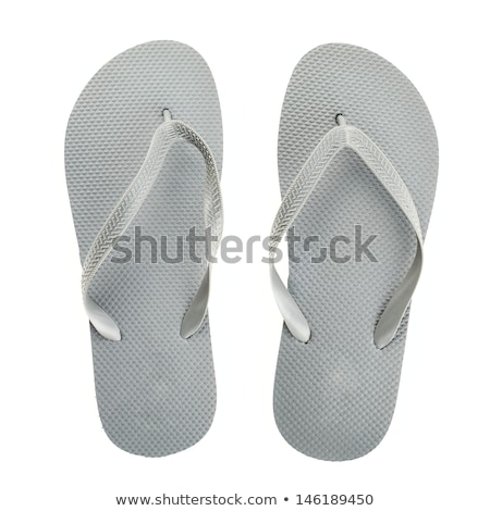 fashionable slippers shoes over a white background stock photo © dacasdo