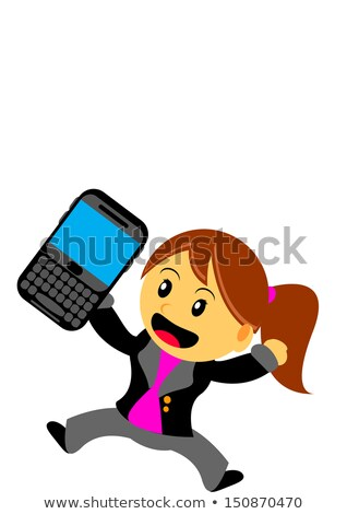 imprenditrice · mobile · computer · BlackBerry · mano · ufficio - foto d'archivio © lunamarina