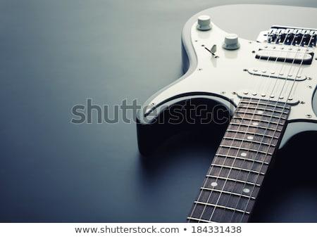 электрической гитаре моста макроса аннотация фото Сток-фото © sumners