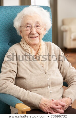 Old Woman Relaxed on the Chair Stock photo © ozgur