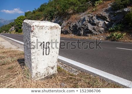Old Milestone Road 1 Stock photo © tainasohlman