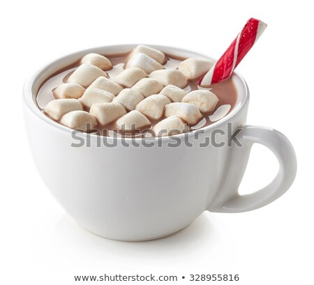 marshmallows and cup isolated Stock photo © alptraum