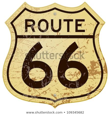 route · 66 · teken · panoramisch · beroemd · USA - stockfoto © pixelsnap