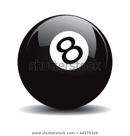 vector billiard 8 ball or fortune teller stock photo © odes
