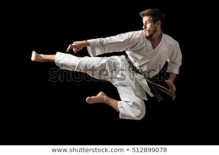 karate kick in the jump stock photo © mayboro1964