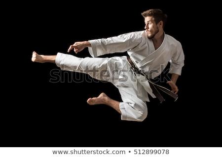 Karate patear ir blanco negro velocidad negro Foto stock © mayboro1964