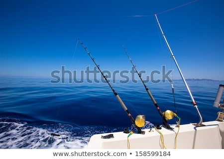 Fischerboot streng Deck Trolling Fischerei blau Stock foto © lunamarina
