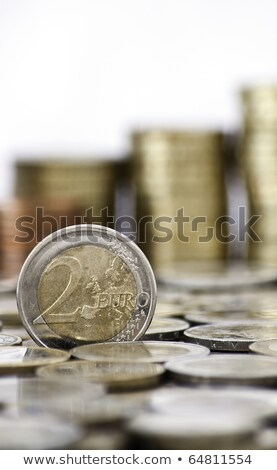 grungy 2 euro coin on white background stock photo © kirill_m