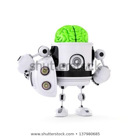 robot · testa · cervello · artificiale · illustrazione · 3d - foto d'archivio © kirill_m