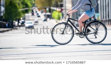 piéton · cycliste · pont · Malte · lac · eau - photo stock © janhetman
