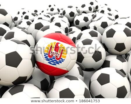 флаг французский Полинезия футбола команда Сток-фото © MikhailMishchenko