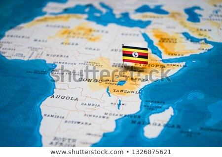 Africa map with Uganda Stock photo © Ustofre9