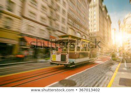 San Francisco cable coche tranvía mercado calle Foto stock © lunamarina