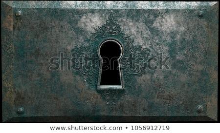 Grunge buraco de fechadura abstrato interior parede Foto stock © SRNR