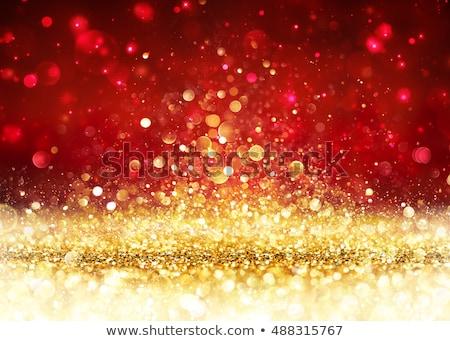 красный золото осень пейзаж старые сарай Сток-фото © songbird