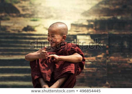 Smiling monk Stock photo © anbuch