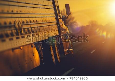 caminhão · movimento · rodovia · Nebraska · negócio · estrada - foto stock © tainasohlman